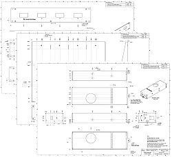 Power supply metalwork technical mechanical diagrams