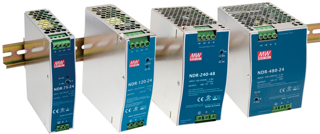 NDR Series economical slim design Din Rail power supplies