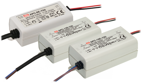 New E Type APC and APV low wattage LED power supplies