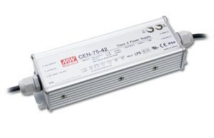 75W Single Output IP66 Rated PFC LED Lighting Power Supply