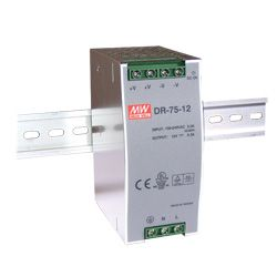 75W Single Output Din Rail Power Supply