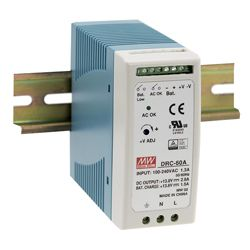 60W Single Output Switching DIN RAIL Power Supplies with UPS Function