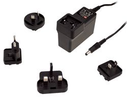 18W AC-DC Medical Plugtop Interchangeable Plug Adapter