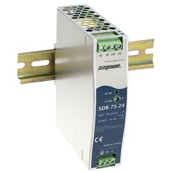 75W High Efficiency Slim DIN Rail Power Supplies