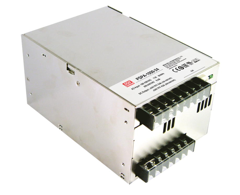 PSPA-1000 Series - 1000W AC/DC Industrial Power Supplies with