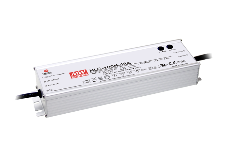 100W Single Output IP65 Rated LED Lighting Power Supply