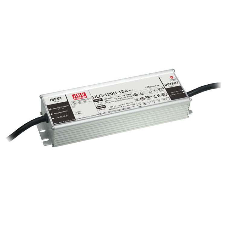 HLG-120H-54-A 120W  54V Constant Voltage + Constant Current LED Driver - Io and Vo adjustable