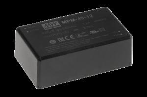 45W AC-DC PCB-Mount Green Medical Power Supplies