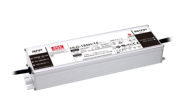 186.3W 54V 3.45A IP67 Rated Single Output LED Power Supply