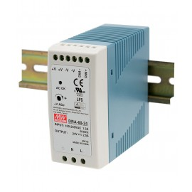60W 24V 2.5A Switching DIN Rail Power Supply with Dimming Functionality