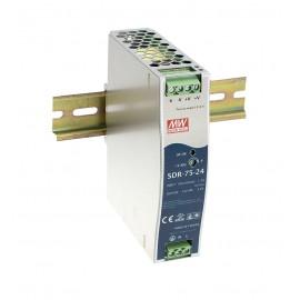 76.8W 48V 1.6A High Efficiency Slim DIN Rail Power Supply