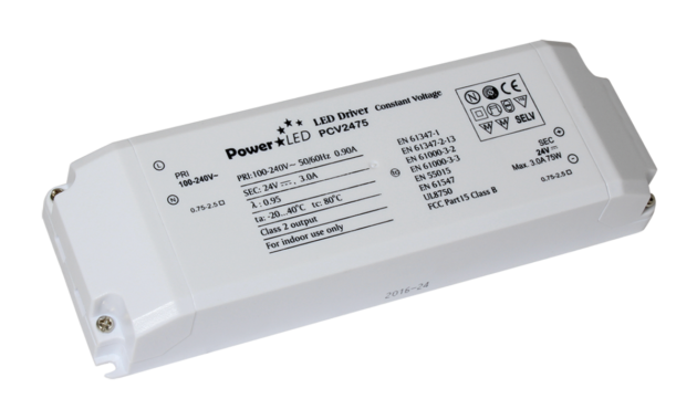 75W 24V 3.15A Non IP Rated Constant Voltage LED Driver